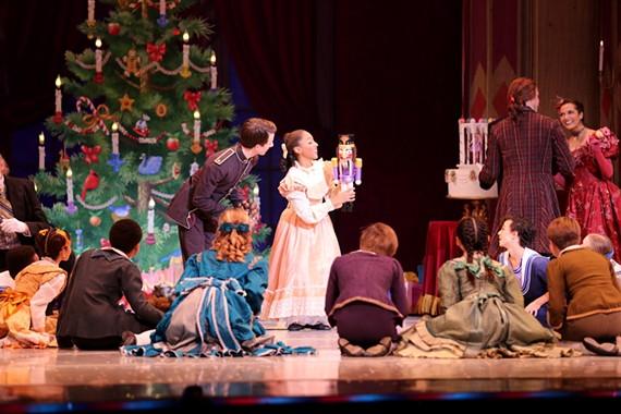 "Kyla Williams and School of Richmond Ballet students in ""The Nutcracker"" by Stoner Winslett."