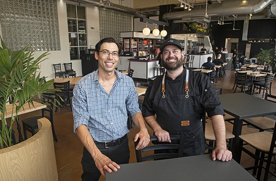 Pinky's co-owners John Reynolds and Steve DeRaffele.
