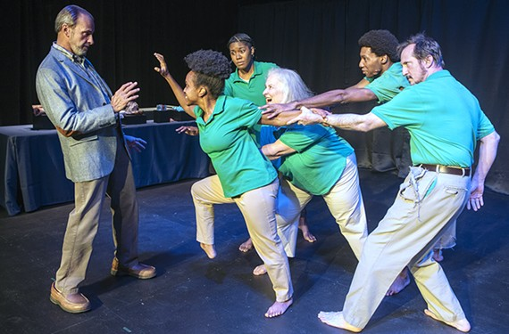 """The cast of Firehouse Theatre's """"The Zombie Life,"""" which runs Aug. 18-29."""