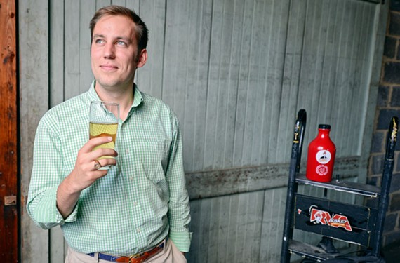 Buskey Barrel Cider Co.'s Will Correll started his company while still in college. He's hoping for a fall opening in Scott's Addition.