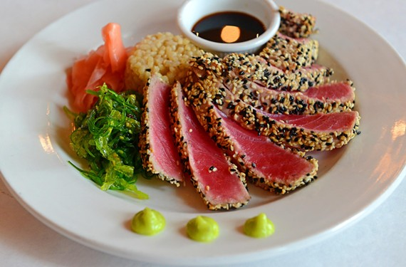 At Tarrant's West, the ahi tuna appetizer features the simple, clean flavors of the fish.