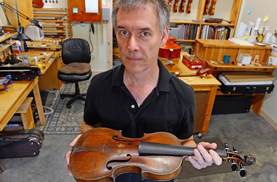 VCU graduate and violin-maker Don Leister has worked to hone his craft for the past 27 years.