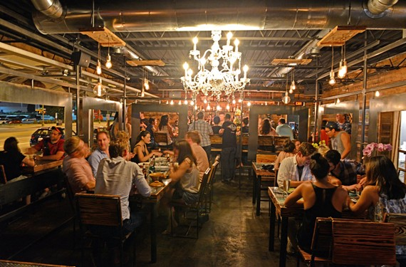 Co-owner Brandon Pearson designed and constructed the interior of Sabai from a mental plan meant to evoke Thailand.