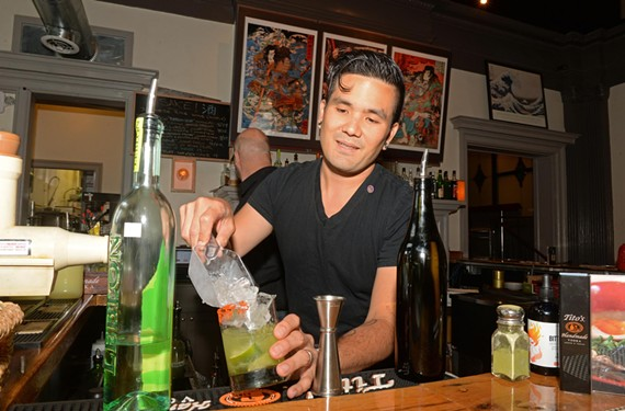 Sean Rapoza creates Asian-inspired cocktails at Shoryuken Ramen. Here he shows off his five-flavor Caipirinha made with the hot new ingredient, schisandra.