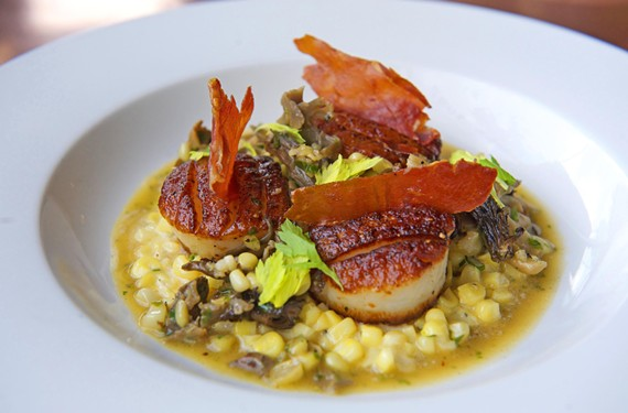 Helen's has updated its menu with dishes that include pan-seared scallops.