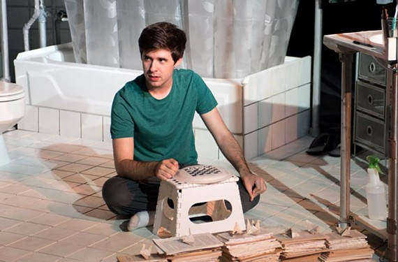 """David (Denver Crawford) is a 20-something crippled by obsessive-compulsive disorder who decides to live in his mother's bathroom in the musical """"The Boy in the Bathroom."""""""