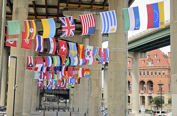 As reported by the Times-Dispatch on Monday, upside-down flags — a sign of distress or protest — were hung incorrectly in the Main Street Station area, intended to welcome international racers and visitors to the UCI Road World Championships. City spokeswoman Tammy Hawley told the T-D that the issue was being corrected.