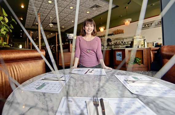 For Perly's Restaurant & Delicatessen downtown, the key to surviving the bike races is cooperation. Rachelle Roberts says she's trying to organize a distribution network for vendors among six or seven other area restaurants.