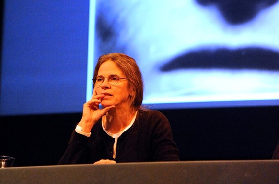 """Well-known Virginia photographer Sally Mann, pictured during the exhibition of """"The Flesh and Spirit"""" in 2010, returns to town Sept. 18. She'll be signing her new memoir, """"Hold Still,"""" and exhibit new photographs at the Reynolds Gallery."""