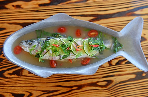 For dinner after the races, Sabai's pla nung manow, a whole steamed fish in a garlic, chili and lemon-cilantro broth, will make you feel healthy and virtuous even as it surprises the palate.