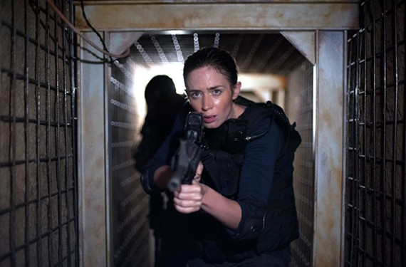 Emily Blunt stars as FBI agent Kate Macy, who is drawn into a shadowy drug-war operation on the U.S.-Mexico border.