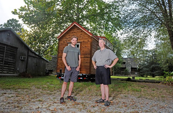 """Seth Numrich, the 28-year-old actor who plays Ben Talmadge in AMC's """"Turn,"""" says he's always been curious about living in an extra-small house. He's building his on land near Ashland with encouragement from Thom Stanton of Timber Trails and the Virginia chapter leader for the American Tiny House Association."""