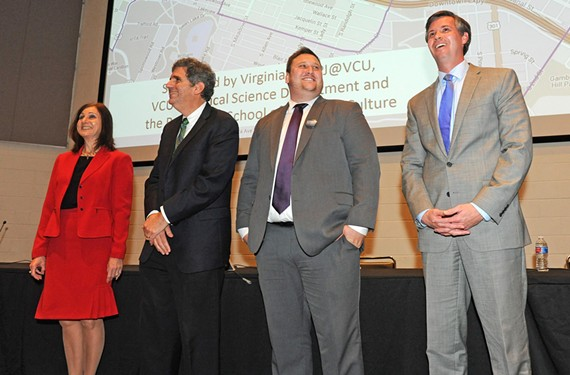 A 10th District Senate race forum at VCU last week included candidates Marleen Durfee, Dan Gecker, Carl Loser and Glen Sturtevant.
