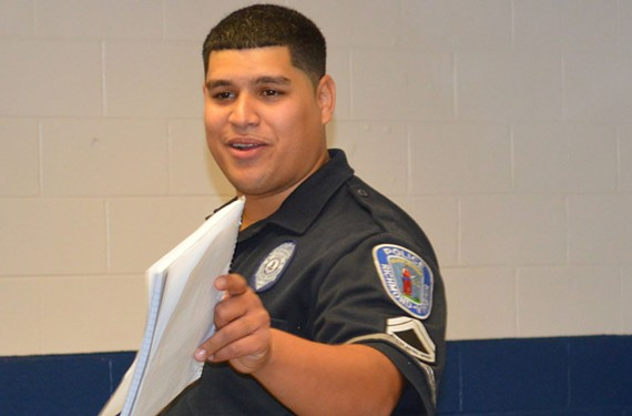 Richmond police officer Rey Perez helps East End residents find and keep jobs through his Bridging the Gap One Person at a Time Program.