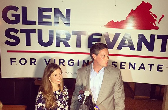 State Senate-elect Republican Glen Sturtevant stands with his wife Lori after his election win. Sturtevant is now asking supporters for more contributions following the election.