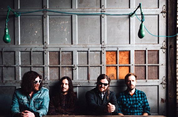 "Vocalist, guitarist and pianist J. Roddy Walston, second from right, has been taking his time working on the anticipated follow-up to his band's 2013 album, ""Essential Tremors"" which will be released on ATO Records."