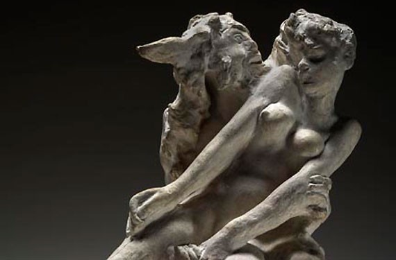 "Made in France, ""The Minotaur"" was modeled in 1885 and cast the following year. Inscribed on the base near the faun's left foot: ""à Maître/Md Goncourt./ A Rodin."""