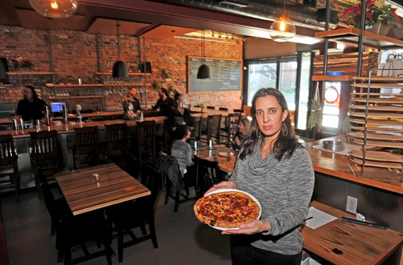 Pizza may have started owner Victoria Deroche's business, but her new restaurant expands the menu far beyond the confines of a pie.