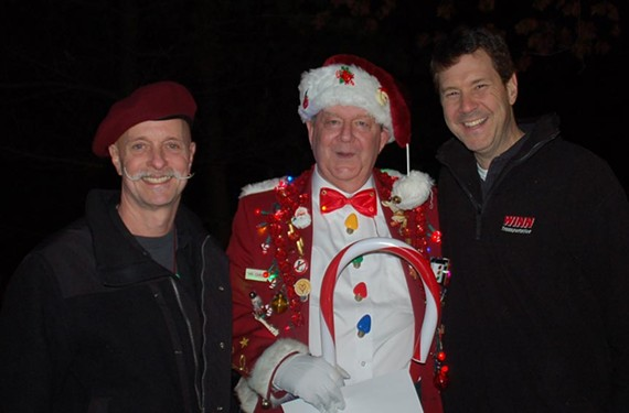 "Barry ""Mad Dog"" Gottlieb, Frank ""Mr. Christmas"" Hudak and Mark Pounders of Winn Transportation."