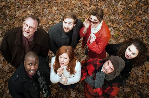 """The talented cast of Quill Theatre's """"Stupid Fucking Bird"""" is filled with local award winners tackling a work which won the Helen Hayes Award for best new play in 2013."""