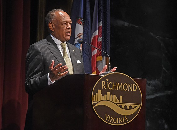 During his last State of the City address, Mayor Dwight Jones calls for referendum to determine whether city residents are in favor of a tax increase to fund schools.