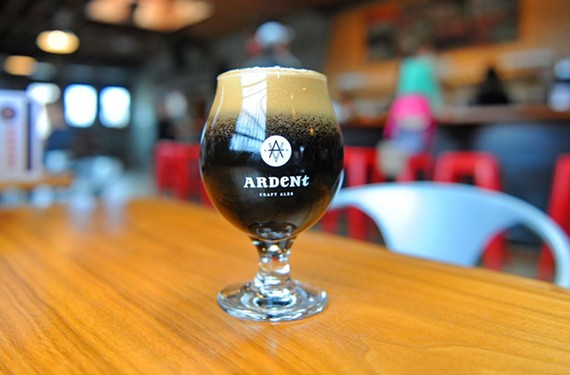 Ardent Craft Ales Dark Rye, an American imperial stout, has a dry, chocolaty finish.