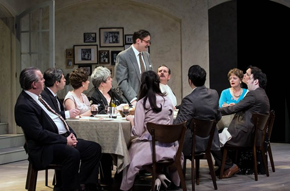 "The cast of ""Saturday, Sunday, Monday"" plays within familiar stereotypes of the Italian family."