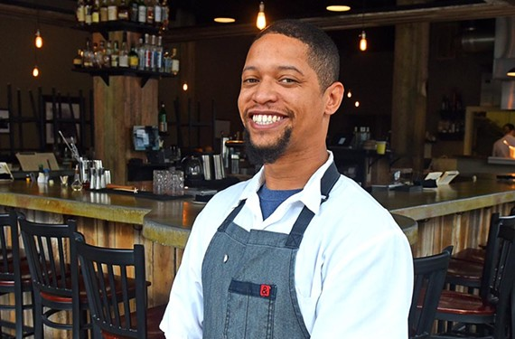 DeAndre Wilson began his career at the acclaimed Chicago restaurant  Blackbird. He's taken over Rappahannock's kitchen for his mentor there and here, Dylan Fultineer.