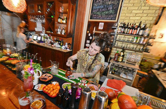 Along with the interior, the bar program at My Noodle & Bar has undergone a makeover. General manager Madison Pere makes culinary-inspired concoctions aided by a smoker and a Sno-Cone machine.