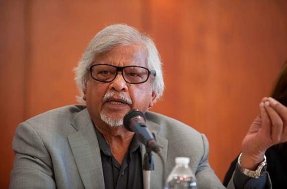 Indian-American Arun Gandhi is a speaker, author and activist who founded the M.K. Gandhi Institute for Nonviolence and has sought to carry on the message of his famous grandfather.
