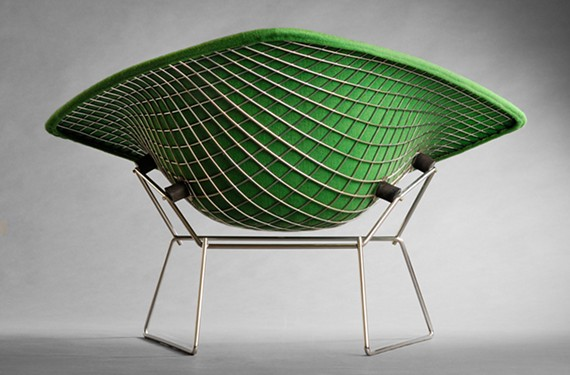 Harry Bertola designed this large diamond lounge chair from 1952.