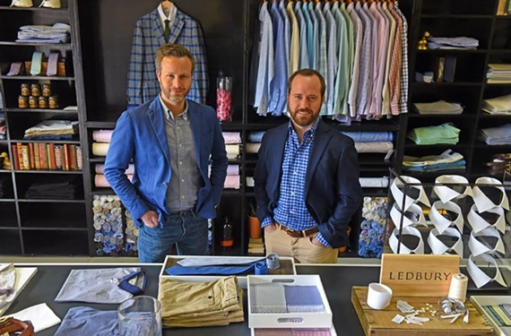 Chief executive Paul Trible and co-founder Paul Watson opened a second Ledbury at 5710 Patterson Ave., the space of the former 100-year-old shirtmaker Creery.