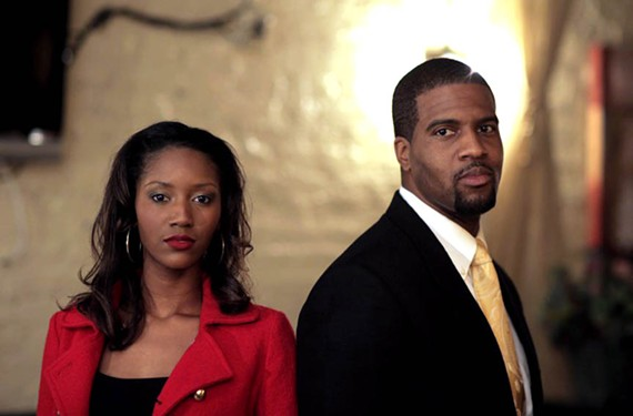 "Ashley Harrison, played by Troy Michael and J.D. Harrison by Aaron J. Wiggins in season one of ""The Heart"" on Fox Richmond."