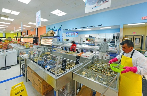 South Side's New Grand Mart has an extensive seafood and produce selection, plus just about every other Asian and Latin American product you can think of.