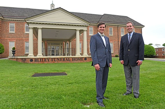 Eric and Carey Bliley are part of Bliley Funeral Home's current generation. The business has been going strong for more than 140 years.