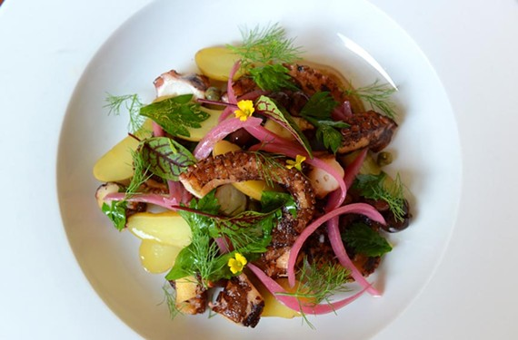 Lucca Enoteca's octopus and fingerling potato salad encapsulates the chef's deft touch with the bounty of the sea.