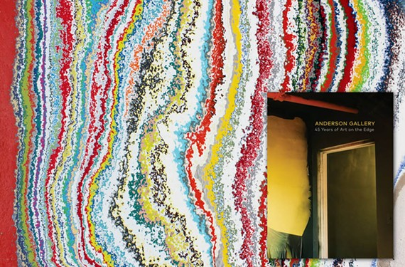 A history of the Anderson Gallery is shown in microcosm by the hundreds of layers of paint applied to its walls, carved out by artist Matt Spahr.