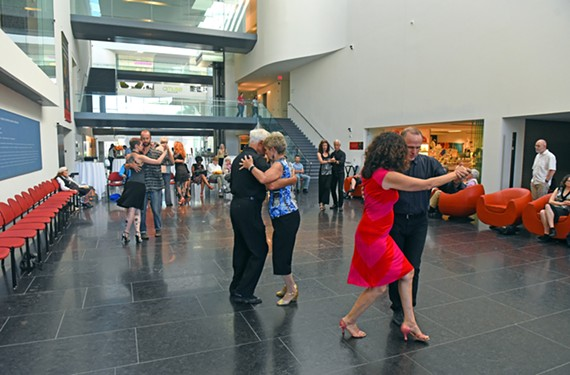You can learn to tango down the atrium of the Virginia Museum of Fine Arts on the third Friday of the every month.