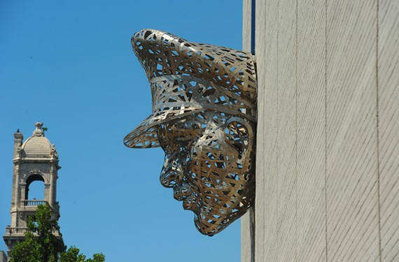 """Thin Blue Line,"" by Michael Stutz, Richmond Police Department headquarters."