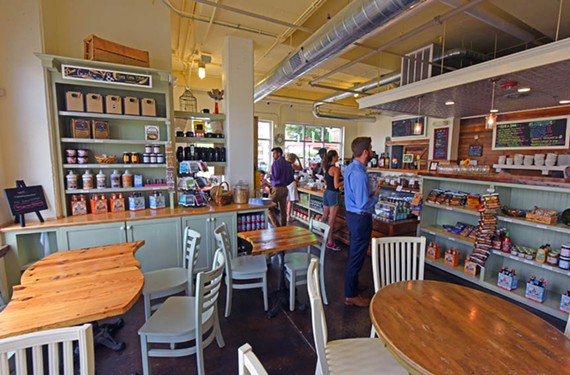 Urban Farmhouse Market & Cafe opened its latest outpost this past winter, bringing its locally sourced soups, salads, sandwiches and coffee to Manchester.