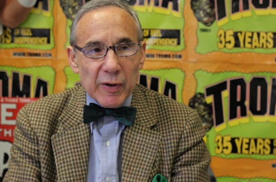 "Troma head Lloyd Kaufman in a scene from ""VHS Massacre: Cult Films and the Decline of Physical Media."""