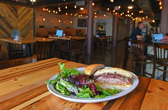 The latest from the owners of the Mill on MacArthur, dubbed Liberty Public House in an online contest, retains the neighborhood vibe of its North Side sibling. Here, the the zeppelin combines Virginia ham and smoked turkey with Spain's Manchego cheese.