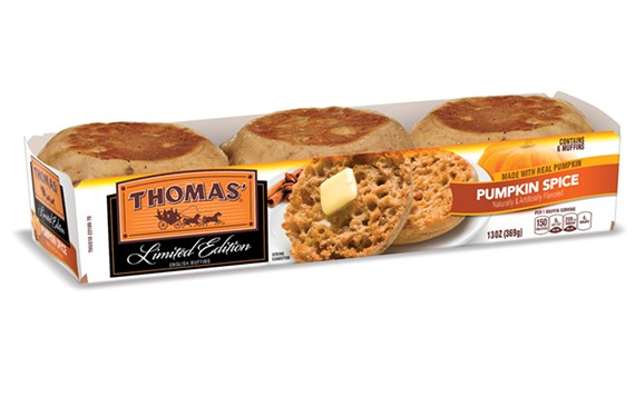 Thomas' pumpkin spice English muffins will be on sale from September to October.
