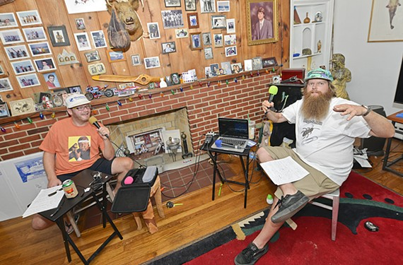 "Benjamin Canary and Josh Huff started a mobile podcast, shown here at Huff's house in Bon Air, critiquing such artistic feats as the early 1990s show, ""Thunder in Paradise,"" starring Hulk Hogan."