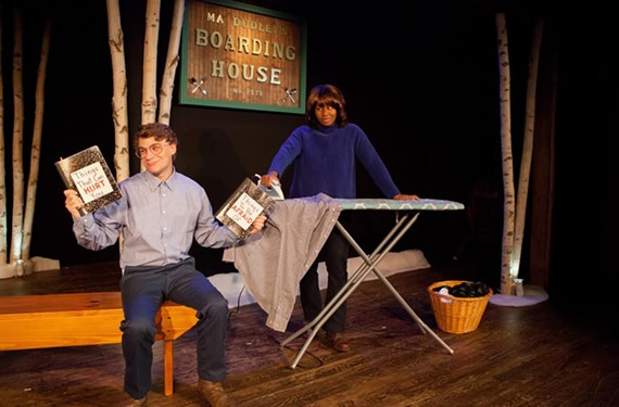 """Lucian Restivo and Mariea Terrell play up the more humorous elements of John Cariani's """"Almost, Maine,"""" composed of absurdist vignettes."""