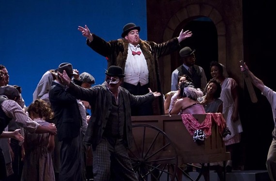 "Clay Hilley plays Canio  in Virginia Opera's ""Pagliacci."""