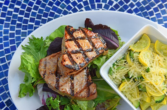 Simple things are done well at Ray's Other Place, such as the tuna with zucchini and summer squash.