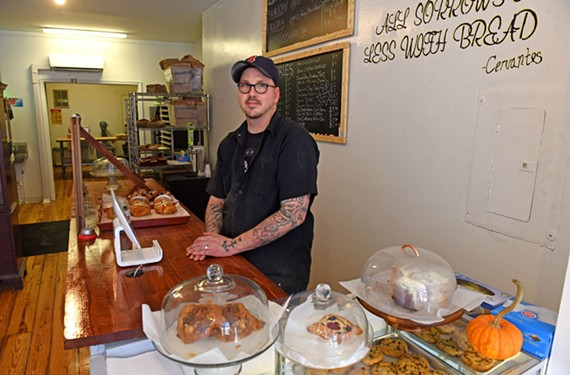 ​At Idle Hands Bread Co., Jay Metzger does all of his baking by hand — although as he's watched his business rapidly grow since opening, he's not opposed to a a few modern updates in the future.