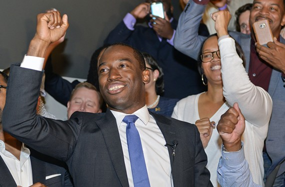 Before his victory was assured, Mayor-elect Levar Stoney celebrates a strong showing during his election-night party at Wong Gonzales.