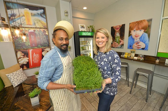 Ginger Juice chef Jermaine Jonas and owner Erin Powell have upped the ante at the juice bar with the addition of breakfast, soups, snacks and sandwiches.